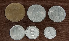 Old german coins: german demcratic republic GDR (DDR) in Grafenwoehr, GE