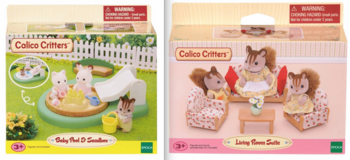 New! Calico Critters Sets ~ Pool -OR- Living Room Set in Westmont, Illinois