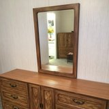 Dresser with mirror and two nightstands in Spring, Texas