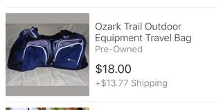 ozark trail travel bag unzips into a duffel bag/carryon in Chicago, Illinois