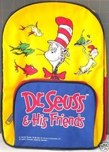 Dr Seuss & His Friends Backpack with 14 Dr. Seuss Books in Keesler AFB, Mississippi