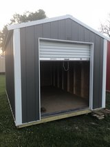 10x16 Metal Utility w/garage door in Fort Polk, Louisiana