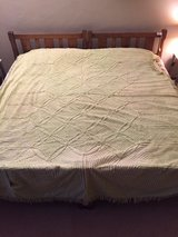 Vintage Chenille Bedspread Lime Green in Orland Park, Illinois