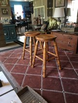 "Wood stools 2 15 1/2 wide 29"" tall no scratch in Cleveland, Texas"