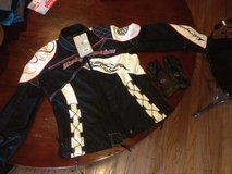 Women's Harley-Davidson riding jacket and gloves in Fort Leonard Wood, Missouri