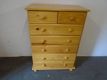 Pine chest of drawers, 2 over 5 in Lakenheath, UK
