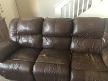 Reclining leather couch in Fort Bliss, Texas
