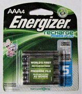 AAA Recharge Energizer Batteries Power Plus 4 Pack 1.2V 800 mAh NiMH in Tacoma, Washington