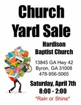 indoor church yard sale in Macon, Georgia