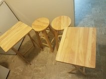 2 high chairs and 2 small tables in Fort Polk, Louisiana