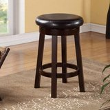 """24"""" Counter-Height Leather Round Stool (Espresso) - NEW! in Plainfield, Illinois"""