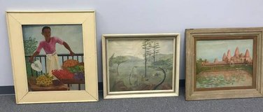 Three Vintage Paintings in Lockport, Illinois