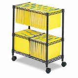 Safco Two-Tier Rolling File Cart (Black) - NEW! in Naperville, Illinois