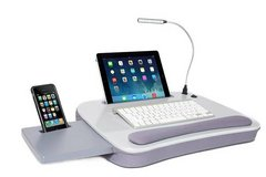 Memory Foam Lap Desk with USB Light (Gray) - LIKE NEW! in Naperville, Illinois