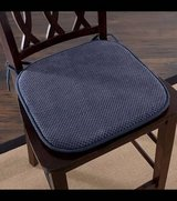 Set of (6 ) Memory Foam Chair Pad (Navy Blue) - NEW! in Plainfield, Illinois