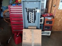 SQ D BOX, 100A service, FRONT COVER AND BREAKERS in Fort Leonard Wood, Missouri