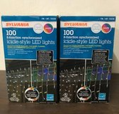 Lot of (6) Boxes of Sylvania Christmas Icicle-Style LED Lights in Plainfield, Illinois