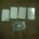 Silver bars 5 ounce units in Vista, California