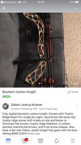 Fully loaded Bowtech Carbon Knight in Fort Leonard Wood, Missouri