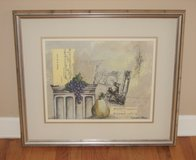"ART - Matted & Framed Print Signed - SIMON B. PARKES - 28 1/4"" x 24 1/2"" in Naperville, Illinois"