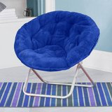 Mainstays Faux-Fur Saucer Chair (Blue) - NEW! in Bolingbrook, Illinois