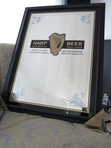 Harp Lager bar mirror in Ramstein, Germany