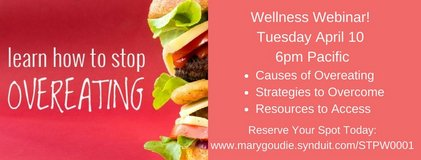 Online Webinar:  How to Stop Overeating in San Clemente, California