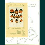 1988 HALLOWEEN PUMPKINS and WITCH Sew/Decorate Door, Garland+ Pattern Pk in Aurora, Illinois