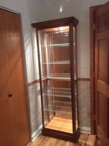Curio cabinet with beveled glass in Tinley Park, Illinois