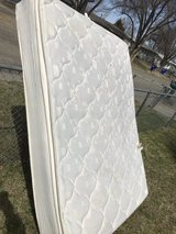 Queen pillowtop mattress and boxspring in Fort Riley, Kansas