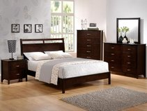 BRAND NEW! QUALITY URBAN WOOD QUEEN ESPRESSO BED SET in Camp Pendleton, California