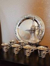 """""""8 piece Silver Plated European Tea Set"""" in Fort Bliss, Texas"""