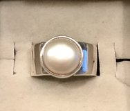 Mexican Silver Fresh Water Pearl Ring in San Diego, California