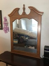 Mirror wood frame in Fort Irwin, California