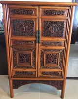 Antique Intricately carved Chinese Cabinet in Okinawa, Japan