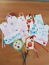 12 Gift Tags Handmade ALL NEW in Ramstein, Germany