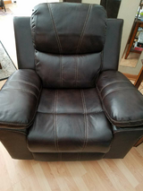 Brown Leather Swival Rocker Recliner in Spring, Texas