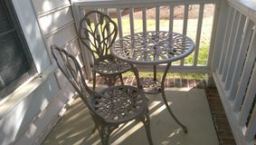 3-Piece Bistro Set with 23.5-Inch Cast Top Table in Cary, North Carolina