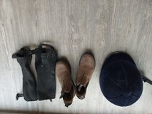 Helmet, boots and chaps for kids in Ramstein, Germany