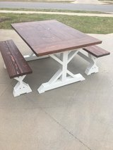 "Rustic 57"" table and matching benches in Lawton, Oklahoma"