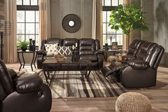 New Ashley Reclining Sofa , chocalate in Camp Lejeune, North Carolina
