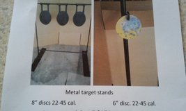Steel target stands in St. Charles, Illinois