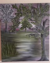 Original oil painting SWAMP in El Paso, Texas