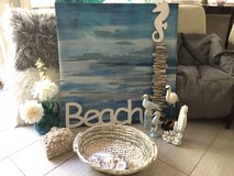 Beach Theme decor--blue/grey in Keesler AFB, Mississippi