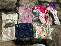 Girls size 7/8 medium and 2 large all great condition pjs and night gowns in Travis AFB, California
