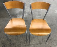 Set of (2) Chairs (Honey/Chrome) - NEW! in Bolingbrook, Illinois