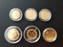 German coins - gold plated in Mannheim, GE