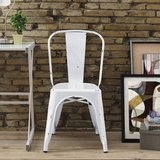 Antiqued Metal Stackable Bistro Chair (Antique White) - NEW! in Bolingbrook, Illinois