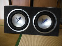 JVC 12 inch subwoofer with enclosed box in Okinawa, Japan