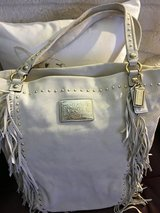 Coach Handbag (Swede Leather) in Naperville, Illinois
